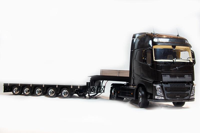 Tieflader 5 Achs 1:14 low loader für Tamiya trucks