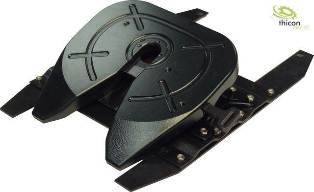 1 14 placa de sillín metal negro con 2-alineación almacenamiento-thi50038