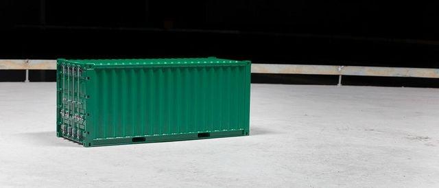 Container 20ft weiß aus Metall 1:14 fertig gebaut