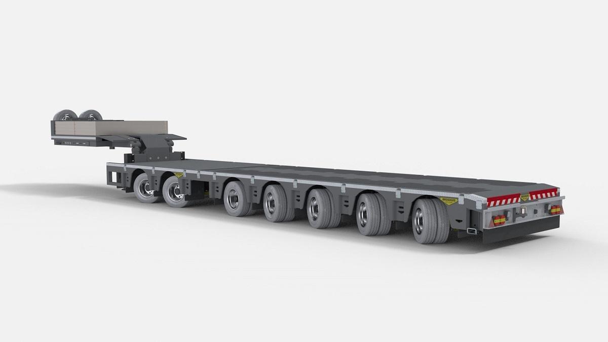 Auflieger 2+5 achs 1:14 low loader für Tamiya trucks