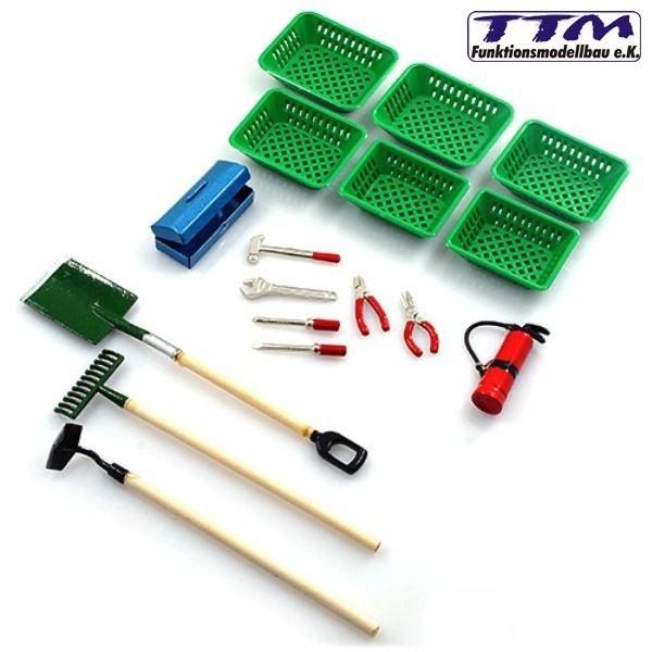 Garten-Werkzeug-Set 1:10 / 1:14