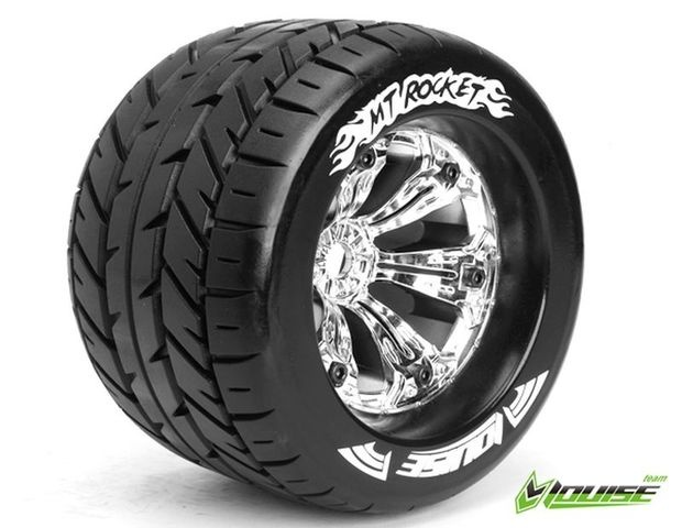MT 3.8 Rocket 1/8 Sport   Felge chrome 17mm TRAXXAS, HPI / 1