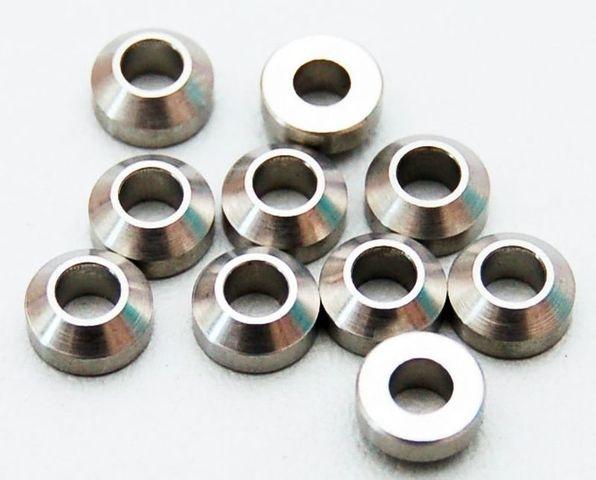 Heavy Duty Steel Silver 3mm Con Washers (10) RC4WD