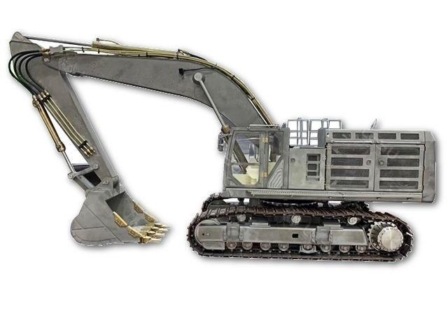 1:14 Hydraulik Kettenbagger Bausatz/Edelstahl+6Fach Steuerbl