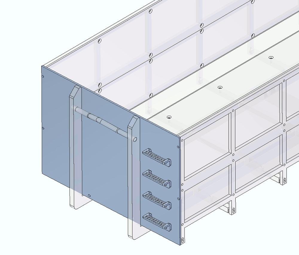 Frontblech (mit Trittstufen)für mittleren Abrollcontainer(T)