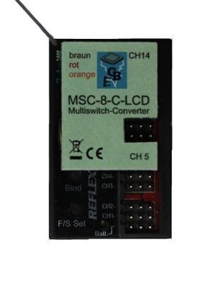 MSC-8-C-LCD für CARSON Reflex Stick MULTI PRO 14 Kanal