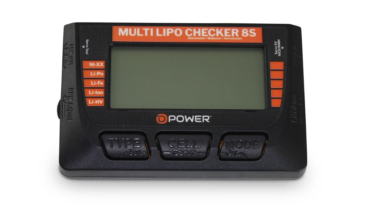 Multi Lipo Checker 8S / Balancer / Servotester / Akkutester
