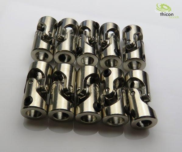 Kardangelenk Stahl 6/6mm 23mm lang 10Stück