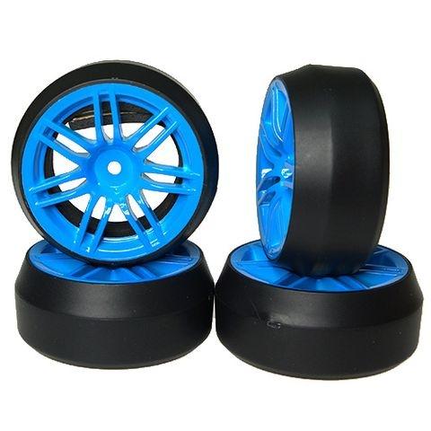 Drift Räder 1:10 blau 7Speichen 4Stück