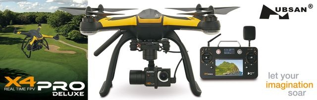 X4 PRO Deluxe FPV RTF 3-Achs Gimbal, Kamera, 7 Touch