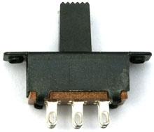 Schiebeschalter 23 mm, 2 x UM,Muldental 70821