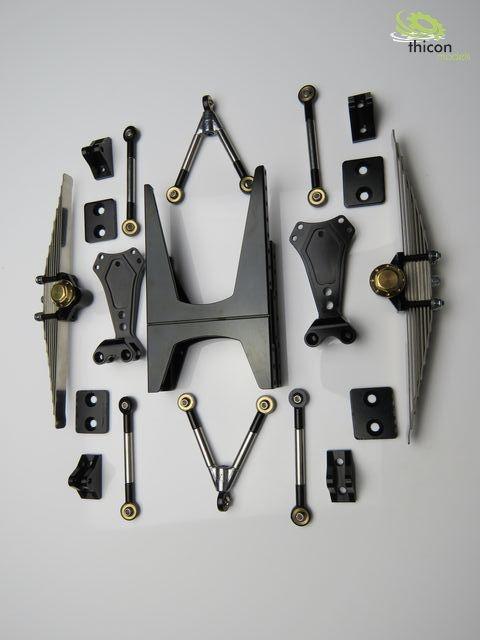 1 16 pendelachse hinten metall f r zwei differenzailachsen. Black Bedroom Furniture Sets. Home Design Ideas