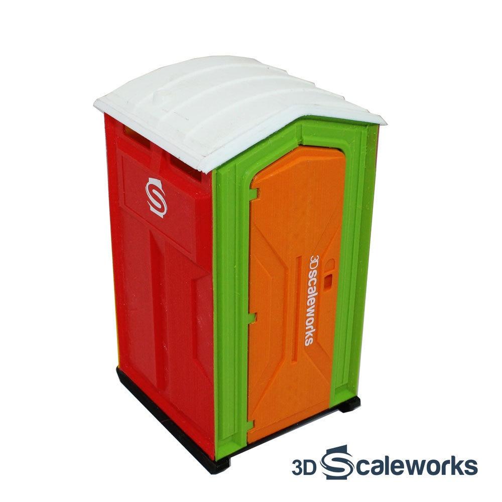 Toilettenkabine Standard bunt Bausatz