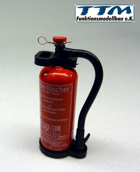 TMV Pulver Feuerlöscher 1:14 Ovaler Griff Fertig DE