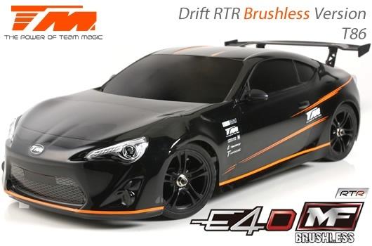 Auto - 1/10 Elektrisch - 4WD Drift - RTR - Brushless - Team