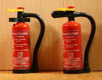 TMV Wasser Feuerlöscher 1:16 Griff Oval Fertig DE