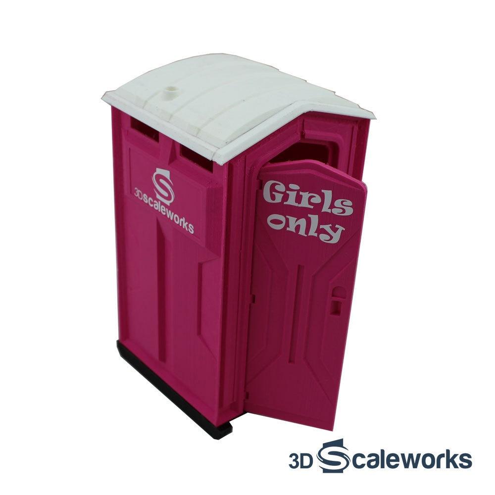 Toilettenkabine Standard pink Bausatz