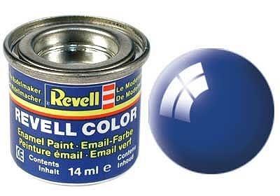 blau, glänzend