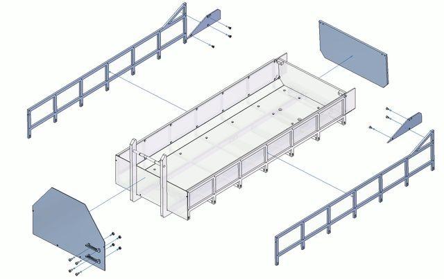 1:14 Umbausatz Abroll-Container flach Bausatz mit Erhöhung