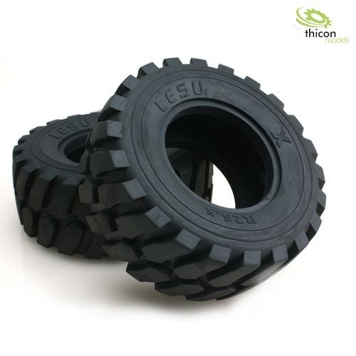 Radlader Reifen mit Edelstahl-Felgen 1 Paar
