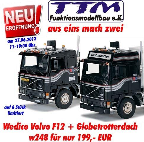 VOLVO F12 Fahrerhaus Bausatz schwarz mit Globetrotterdach!