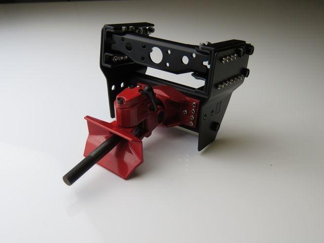 Anhängerkupplung Metall rot mit Rahmenendstück 1:14/1:16