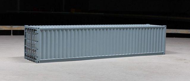 Container 40ft weiß aus Metall 1:14 fertig aufgebaut