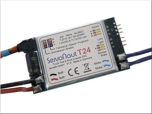 Servonaut T24 Trial und Crawler-Fahrtregler mit 4A S-BEC