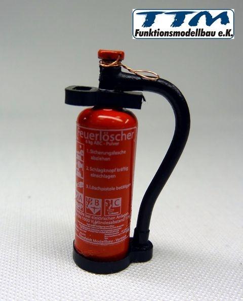 TMV Pulver  Feuerlöscher 1:16 Ovaler Griff Fertig DE