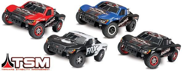 TRAXXAS Slash 4x4 BRUSHLESS +12V-Lader +OBA&TSM