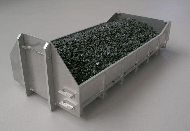 1:14 Abroll-Container flach Bausatz mit Erhöhung