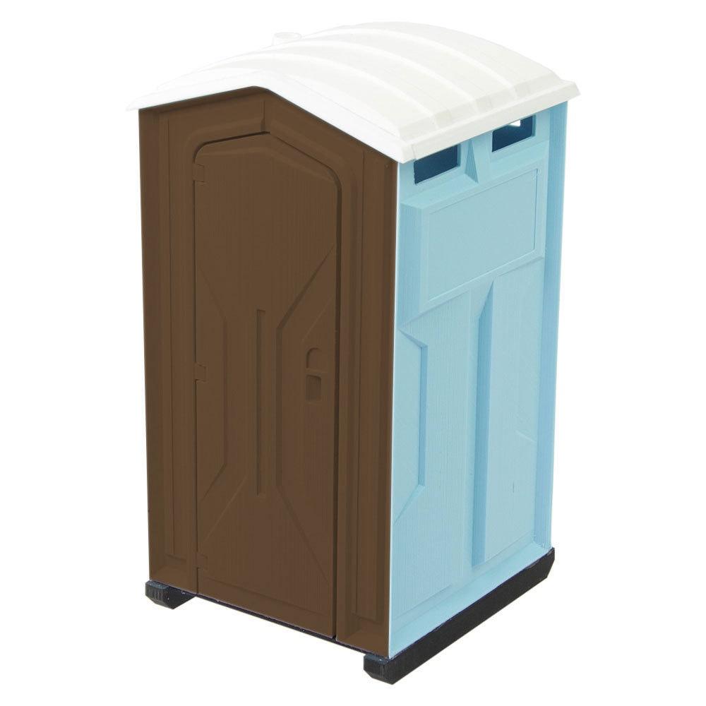 Toilettenkabine Standard blau/braun Bausatz