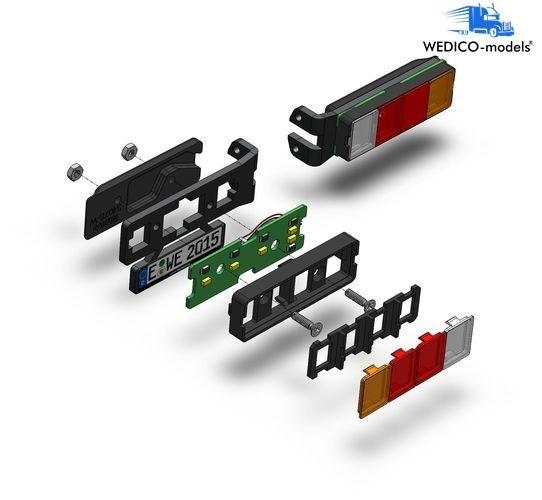 Nachrüst-Set 4-Kammer LED-Rückleuchten