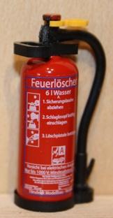 TMV Wasser Feuerlöscher 1:14 Griff Oval Fertig DE