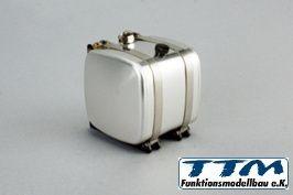 Hydrauliktank Alu 52,5mm mit Halterung für Tamiya und Wedico