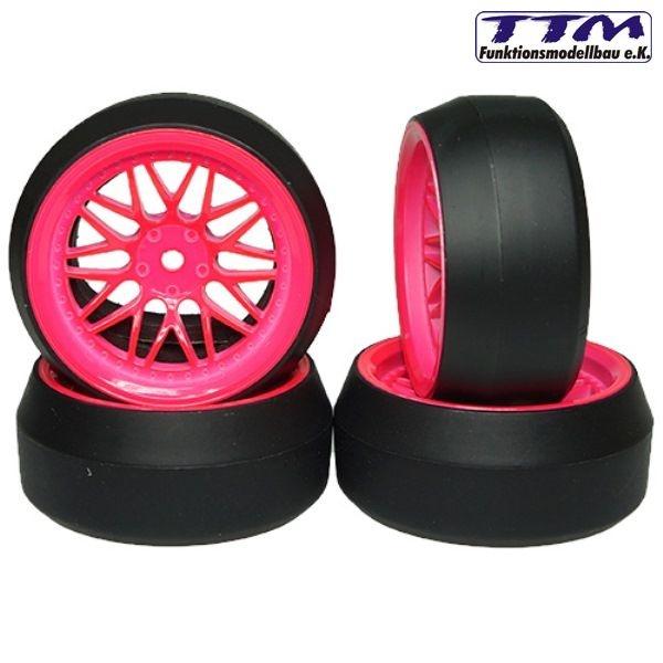 Drift Räder 1:10 pink Speichen 4Stück
