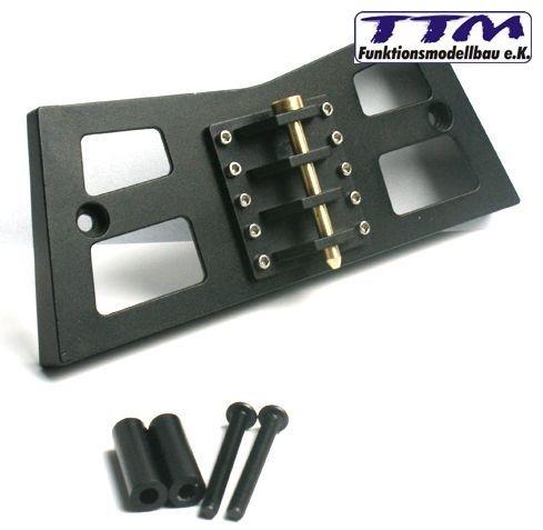 Registro FRIZIONE nero metallo sul davanti per TAMIYA ACTROS-ttm763