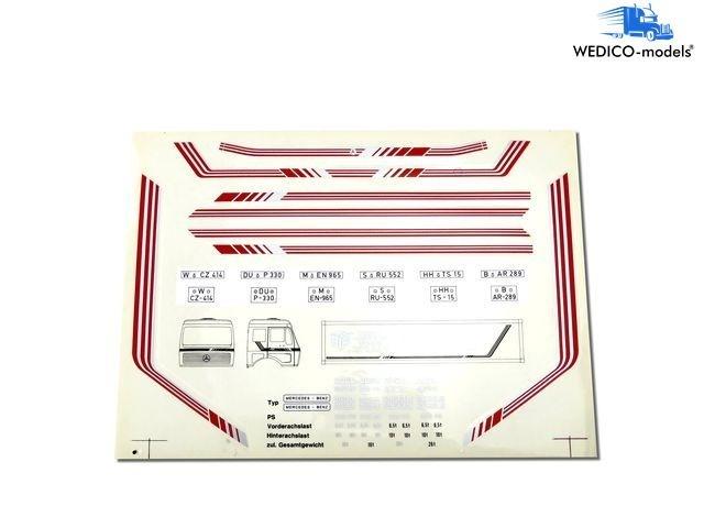 Dekor Mercedes NG rot-silber
