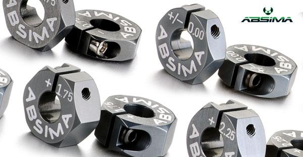 Aluminium 7075 T6 Radmitnehmer 12mm Offset +1,50mm 1:10 2Stk