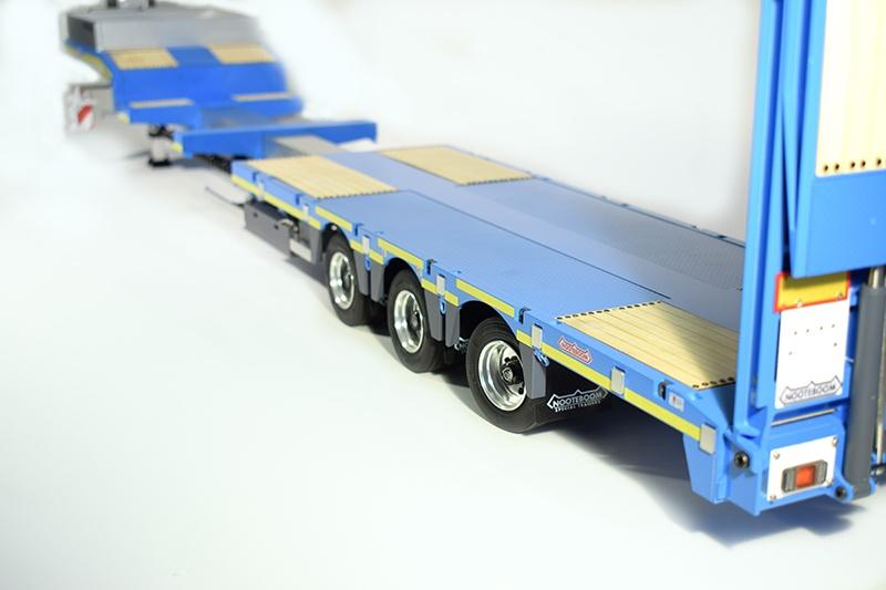 Nooteboom Anhänger 3 Achsen 1:14 Tieflader für Tamiya Trucks