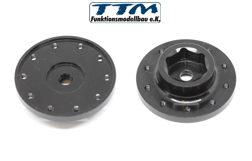 TTM-Adapter für angetriebene Vorderachse 1Paar Schwarz