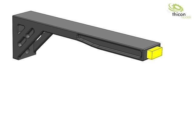 1:14/1:16 Begrenzungsleuchten LED gelb mit Halter 2Stück