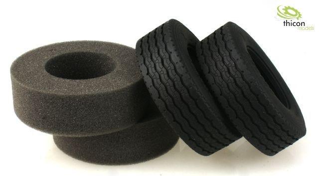 1:14 Reifen Straße breit mit Einlagen Paar