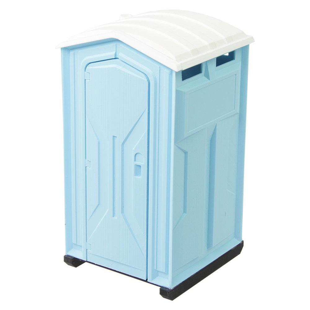 Toilettenkabine Standard blau Bausatz