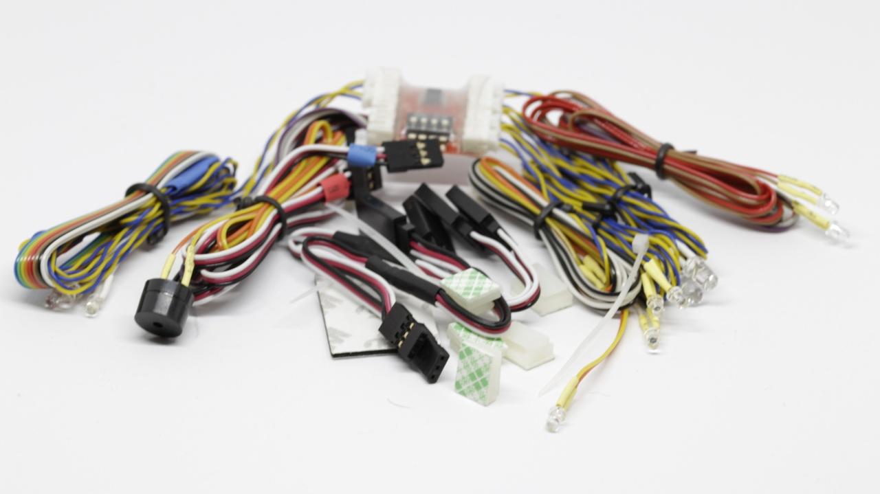 LED-Lichtset für Tamiya- und Wedico LKW lötfrei
