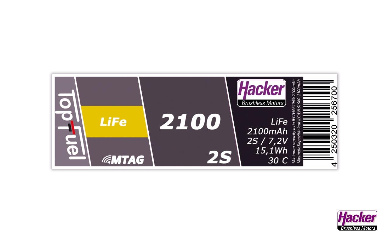 TopFuel LiFe 30C 2100mAh 2S MTAG