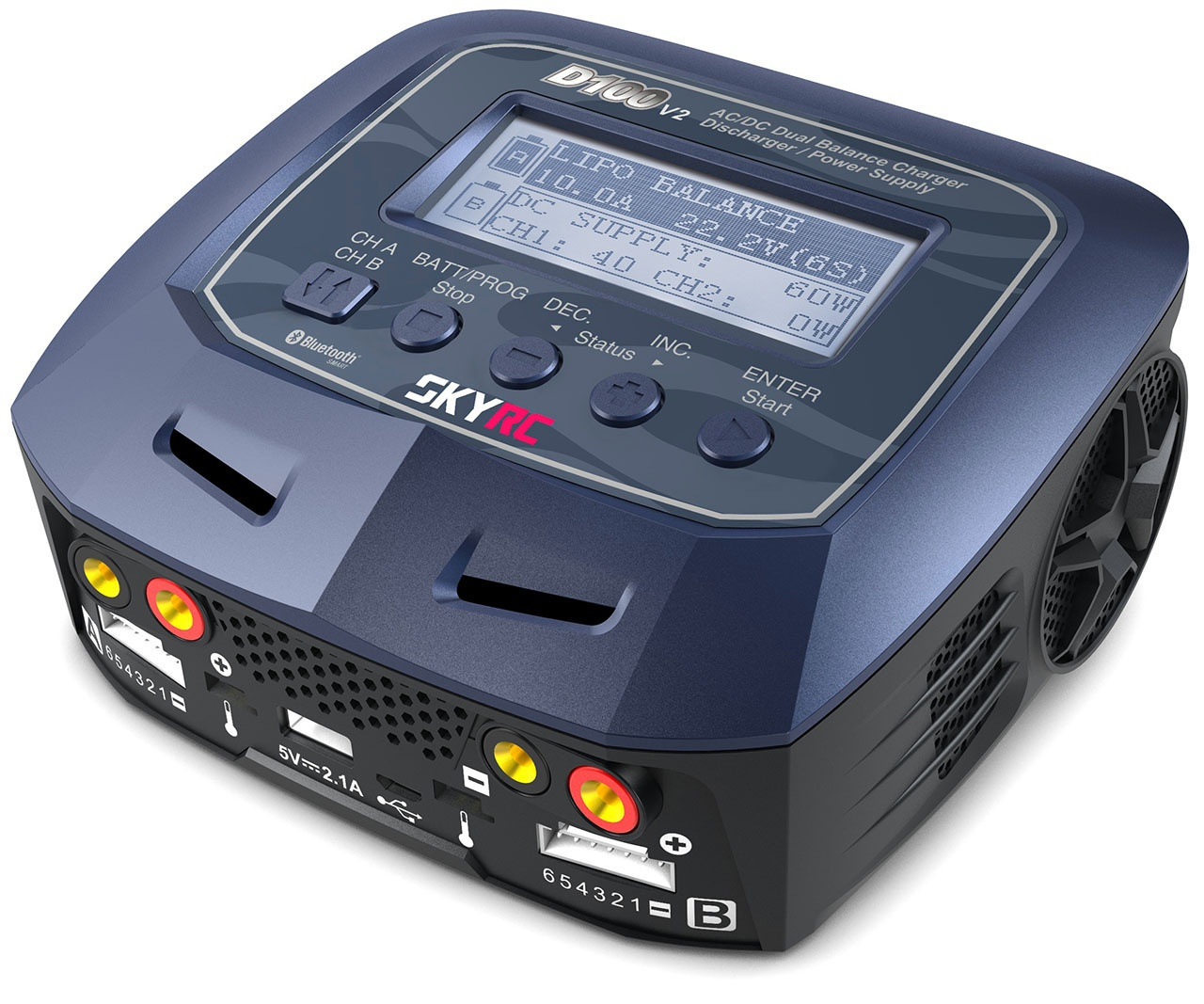 Ladegerät D100 V2 AC/DC DUO LiPo 1-6s 10A 100W  *SK100131