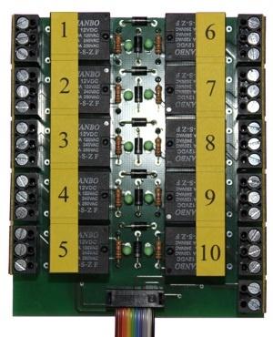 Anschlussklemme mit Relaisausgängen AKL-10-R-6V