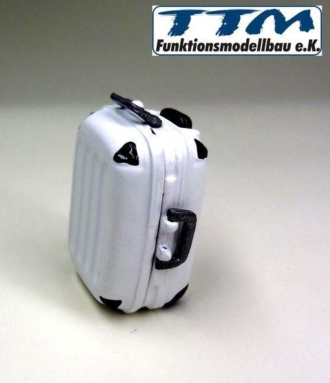 Reisekoffer Metall 1:16 schwarz aufklappbar