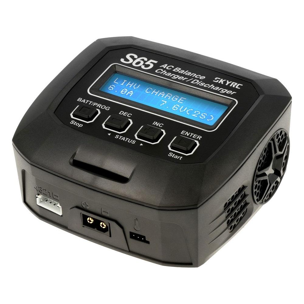 SkyRC S65 AC Ladegerät LiPo 2-4s 6A 65W Entladen 2A 10W